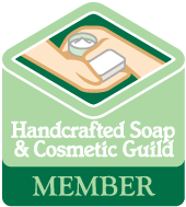 We're a member of the Handcrafted Soap & Cosmetic Guild!