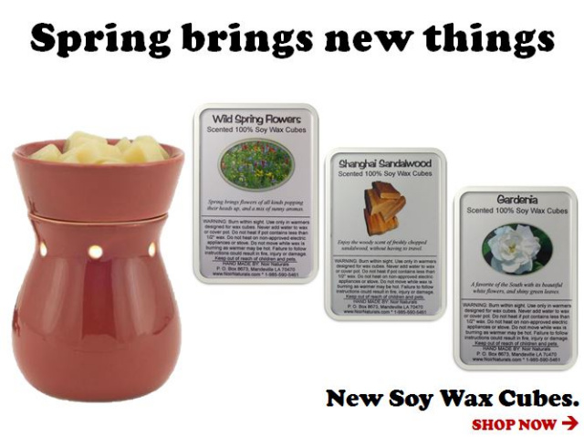 Spring Brings New Soy Wax Cubes!